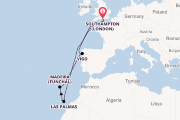 11 day expedition on board the Sky Princess  from Southampton (London)