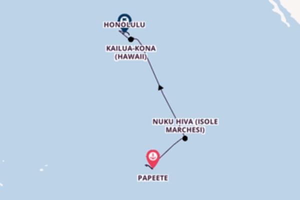 A bordo di Norwegian Jewel da Papeete