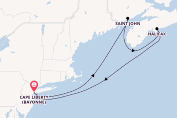 Expedition from Cape Liberty (Bayonne) with the Freedom of the Seas