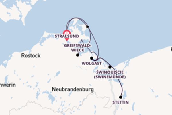 Ostseeinseln ab/bis Stralsund