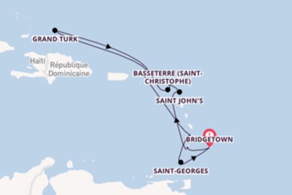 Visitez à bord du bateau Azura , la destination: Kingstown