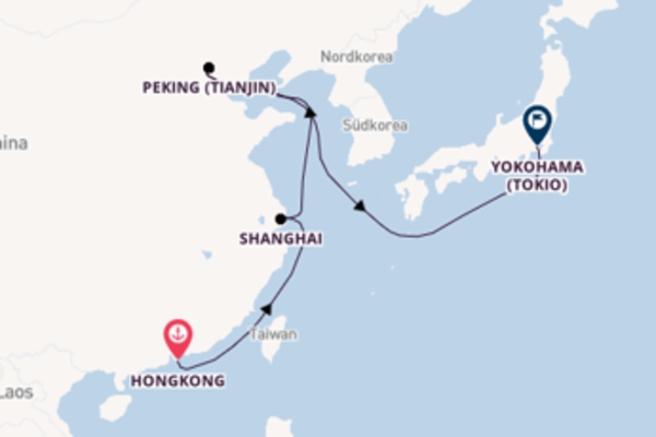 Erleben Sie Hongkong, Shanghai und Yokohama (Tokio)