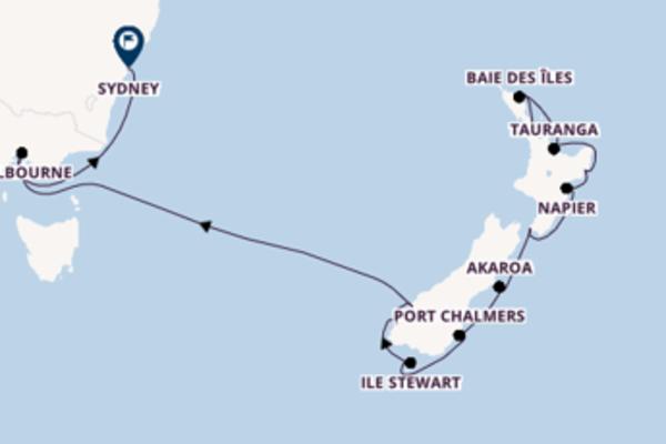 Croisière de 16 jours vers Sydney avec Silversea