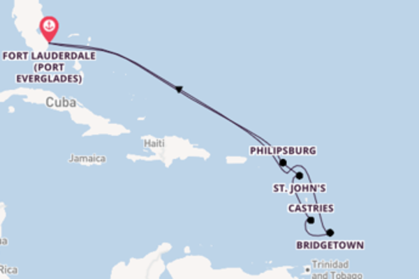 11 day cruise with the Celebrity Reflection to Fort Lauderdale