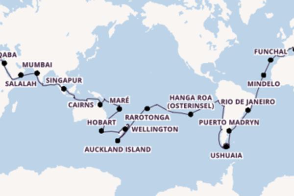 117-tägige Weltreise