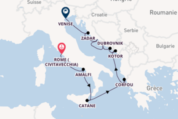 Étonnante balade de 11 jours au départ de Rome (Civitavecchia)
