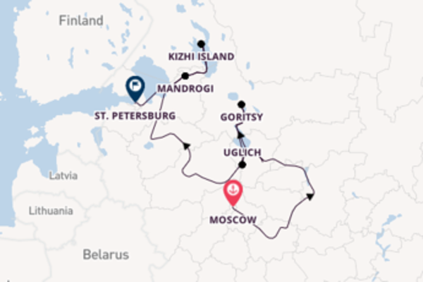 Trip from Moscow to St. Petersburg via Uglich