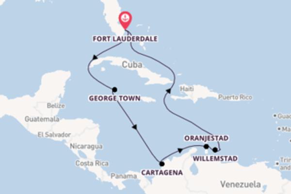 12-daagse droomcruise vanuit Fort Lauderdale
