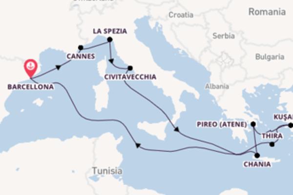 Meraviglioso viaggio di 13 giorni passando per Civitavecchia