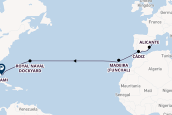 Cruising from Barcelona to Miami