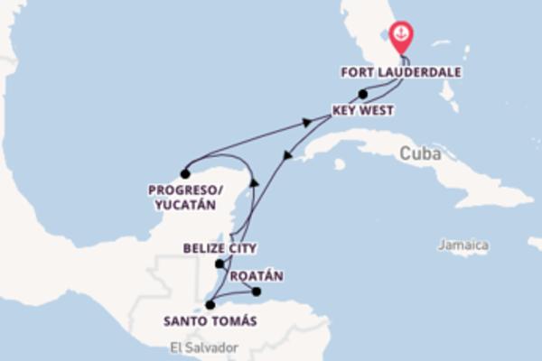 Attraente crociera di 12 giorni verso Fort Lauderdale