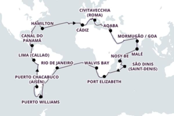 Sensacional cruzeiro com a Costa Cruzeiros