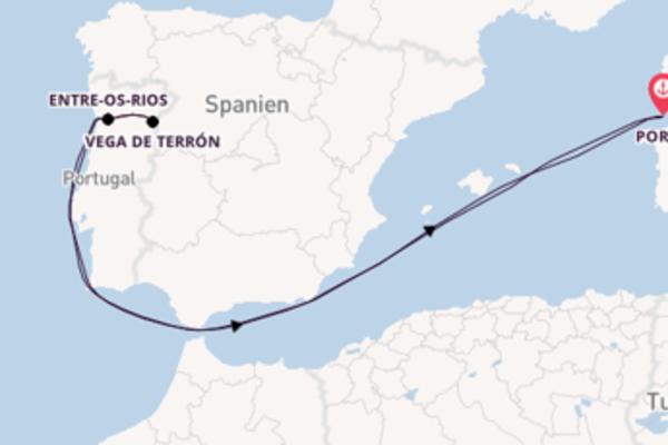 8 Tage Porto Rundreise mit dem Douro Cruiser