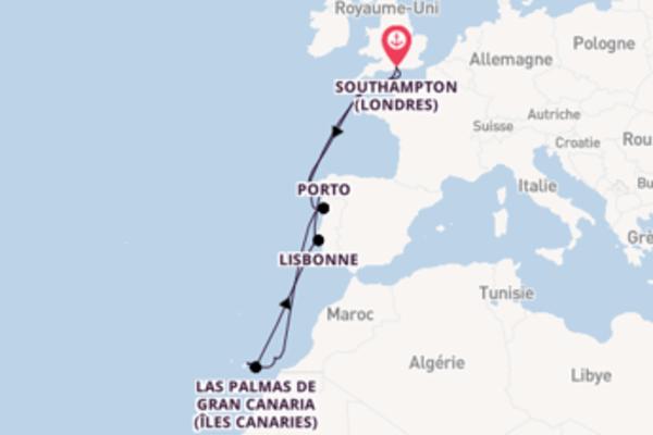 12 jours de navigation à bord du bateau Celebrity Silhouette vers Southampton (Londres)
