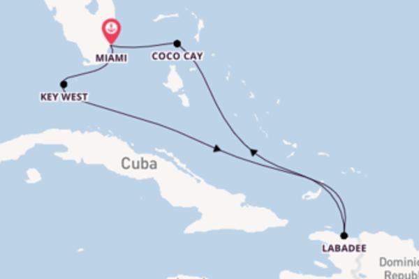 Crociera da Miami verso Labadee
