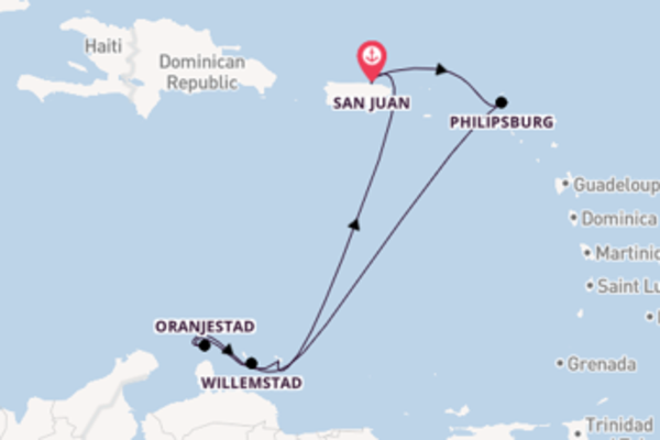 Aanschouw Willemstad met Royal Caribbean