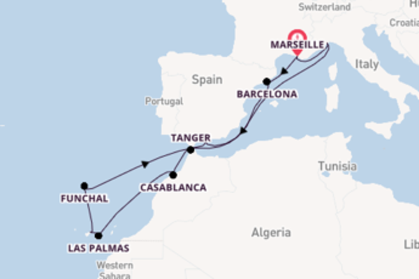 Cruise in 15 dagen naar Marseille met Costa Cruises