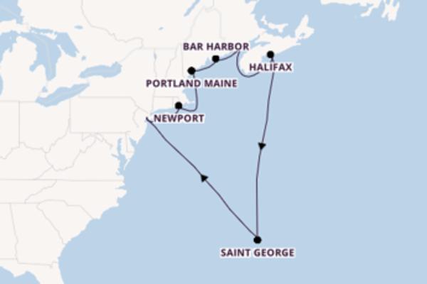 11-daagse cruise naar Halifax