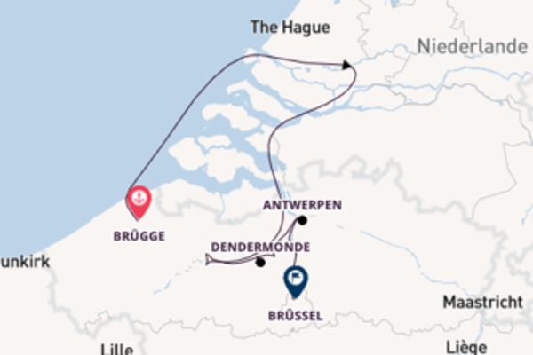 Mit Rad & Schiff von Brügge nach Brüssel