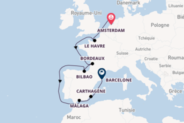 Explorez à bord du bateau Jewel of the Seas, la destination: Málaga