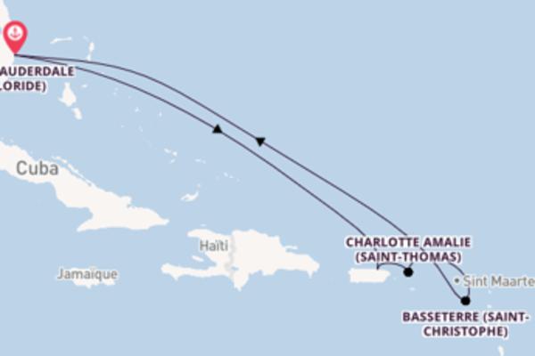 8 jours pour découvrir Basseterre au départ de Fort Lauderdale