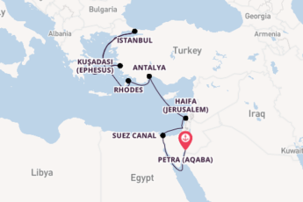 Sensational expedition from Petra (Aqaba) with Silversea