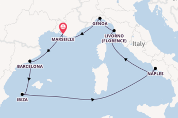 Trip with MSC Cruises from Marseille