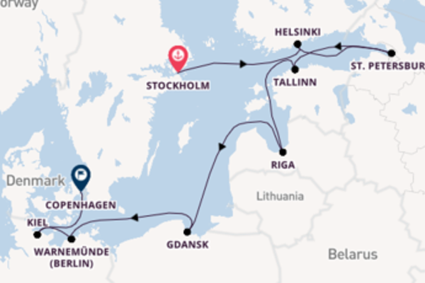 Expedition with Norwegian Cruise Line from Stockholm to Copenhagen