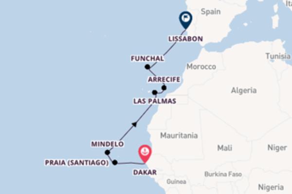 11-daagse droomcruise vanuit Dakar