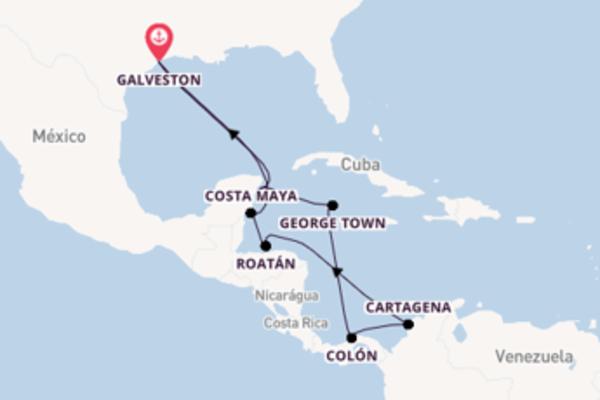A bordo do Jewel of the Seas em um cruzeiro de 12 dias