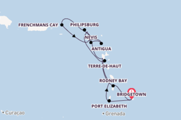 Spettacolarecrociera verso Bridgetown