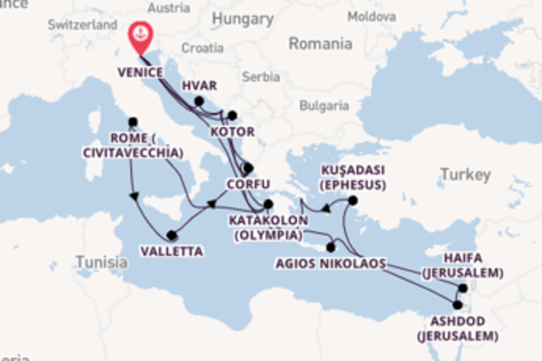 Cruising from Venice via Hvar