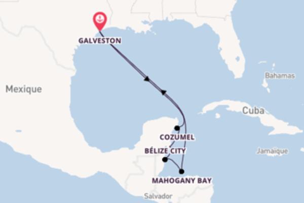 9 jours de navigation à bord du bateau Carnival Vista depuis Galveston