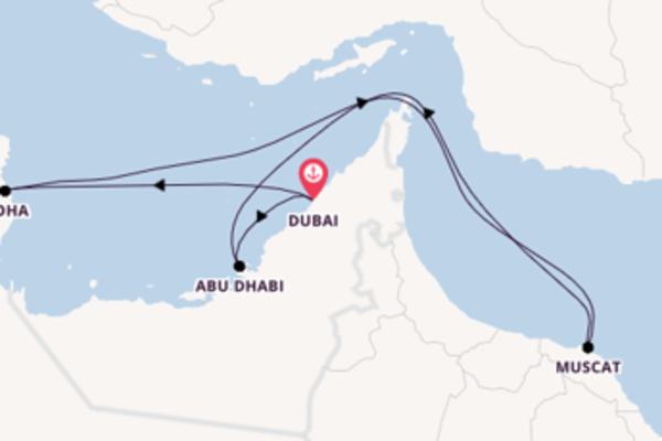 Geniet van het sfeervolle Doha met AIDA Cruises