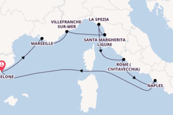 Monte-Carlo, depuis Barcelone à bord du bateau Celebrity Apex