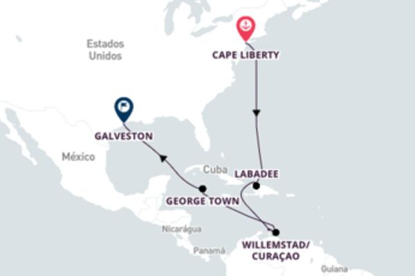 A bordo do Adventure of the Seas em uma viagem de 12 dias
