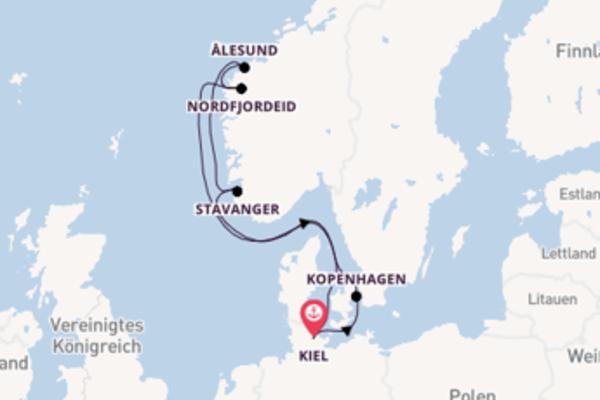 8-tägige Kreuzfahrt ab Kiel