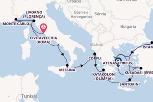 Jornada de 12 dias até Atenas (Pireus) com o Norwegian Star