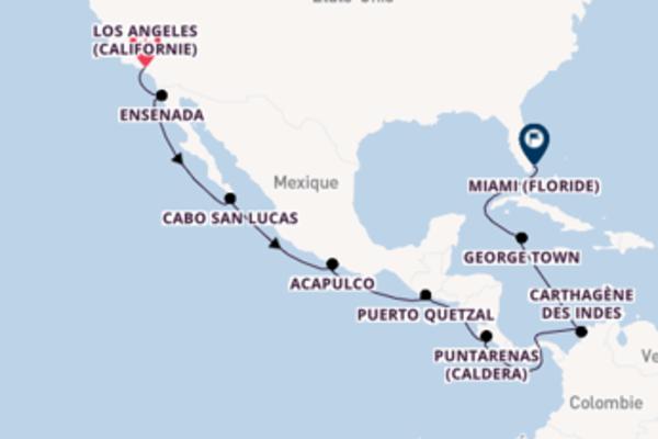 Superbe croisière vers Miami via Carthagène des Indes