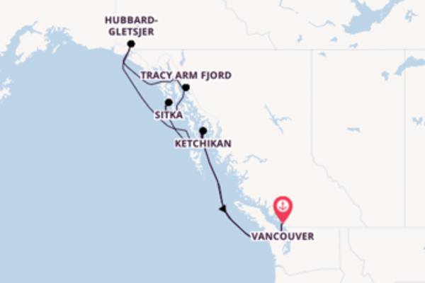 Cruise met Royal Caribbean naar Inside Passage