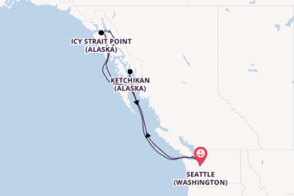 Juneau et une idyllique croisière depuis Seattle