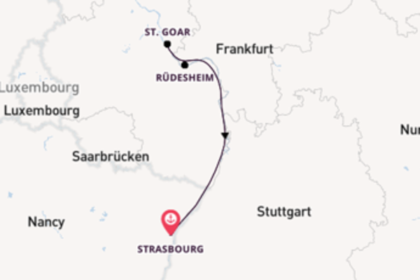 5 day cruise with the Beethoven to Strasbourg