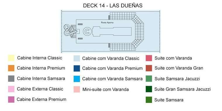 Costa Favolosa Deck 14 Las Duenas