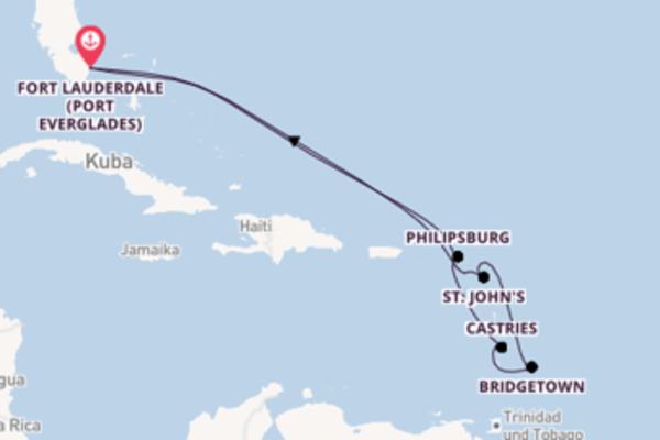 11 Tage Karibik Kreuzfahrt