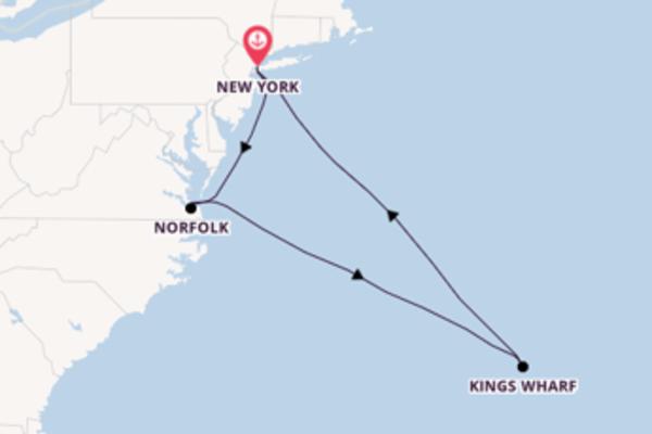 8-daagse cruise met de Norwegian Bliss  vanuit New York