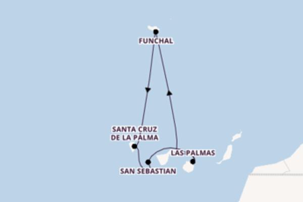 8-tägige Kreuzfahrt ab Santa Cruz de Tenerife