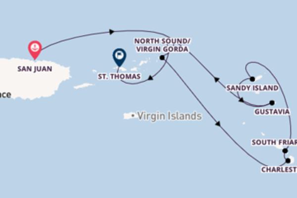 Geniet van een 8-daagse cruise naar St. Thomas