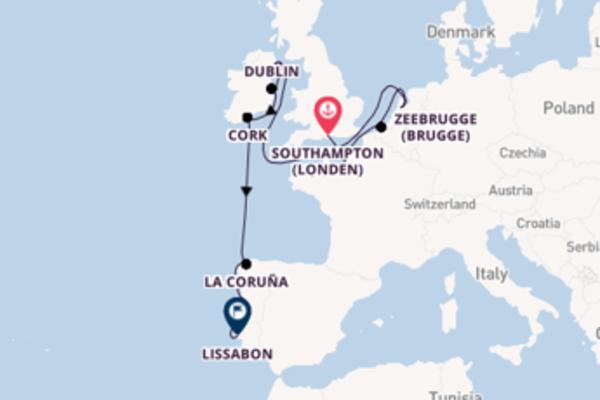 Cruise via Ierland naar zonnig Lissabon