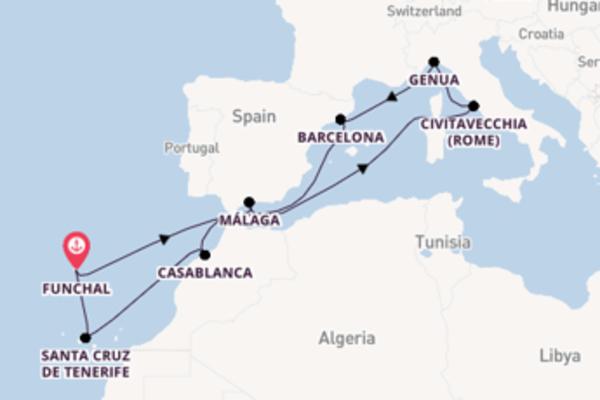 12-daagse cruise naar Málaga