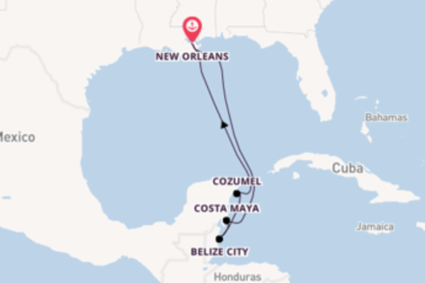 7-daagse droomcruise vanuit New Orleans